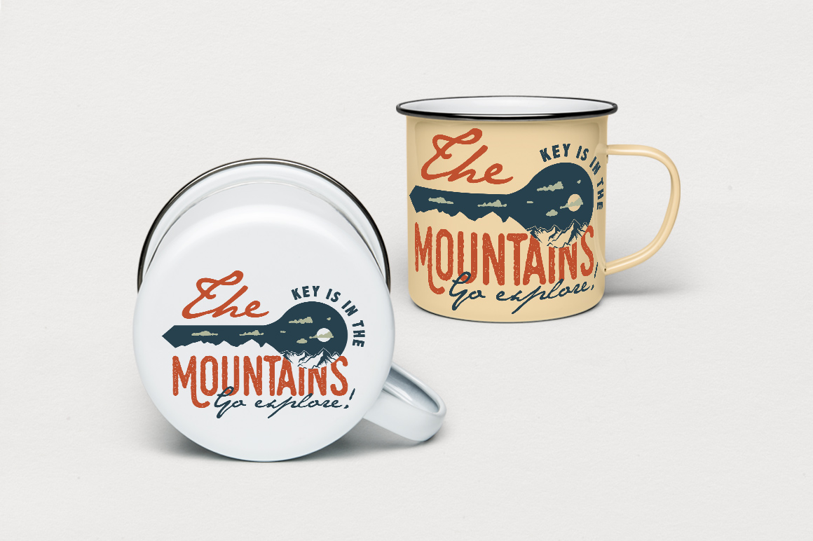 Mountain Key Logo Badge - A Mountain Adventure SVG Badge example image 5