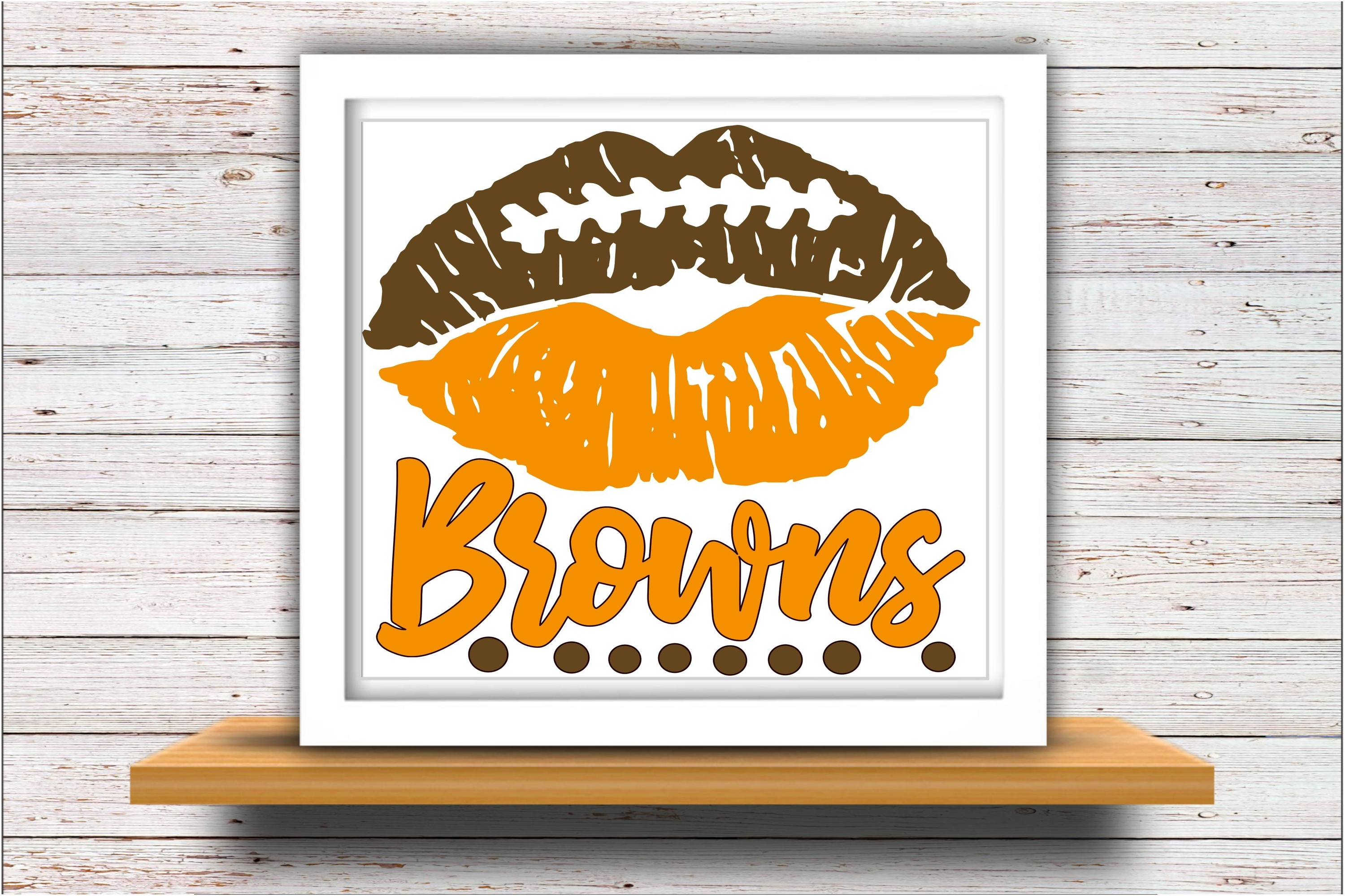 Football SVG DXF JPEG Silhouette Cameo Cricut Browns svg example image 2