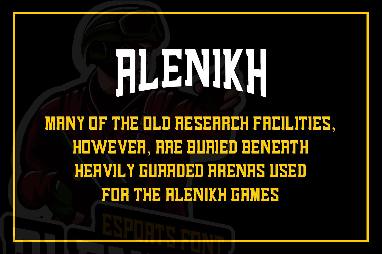 Alenikh Esports Font Logo example image 2