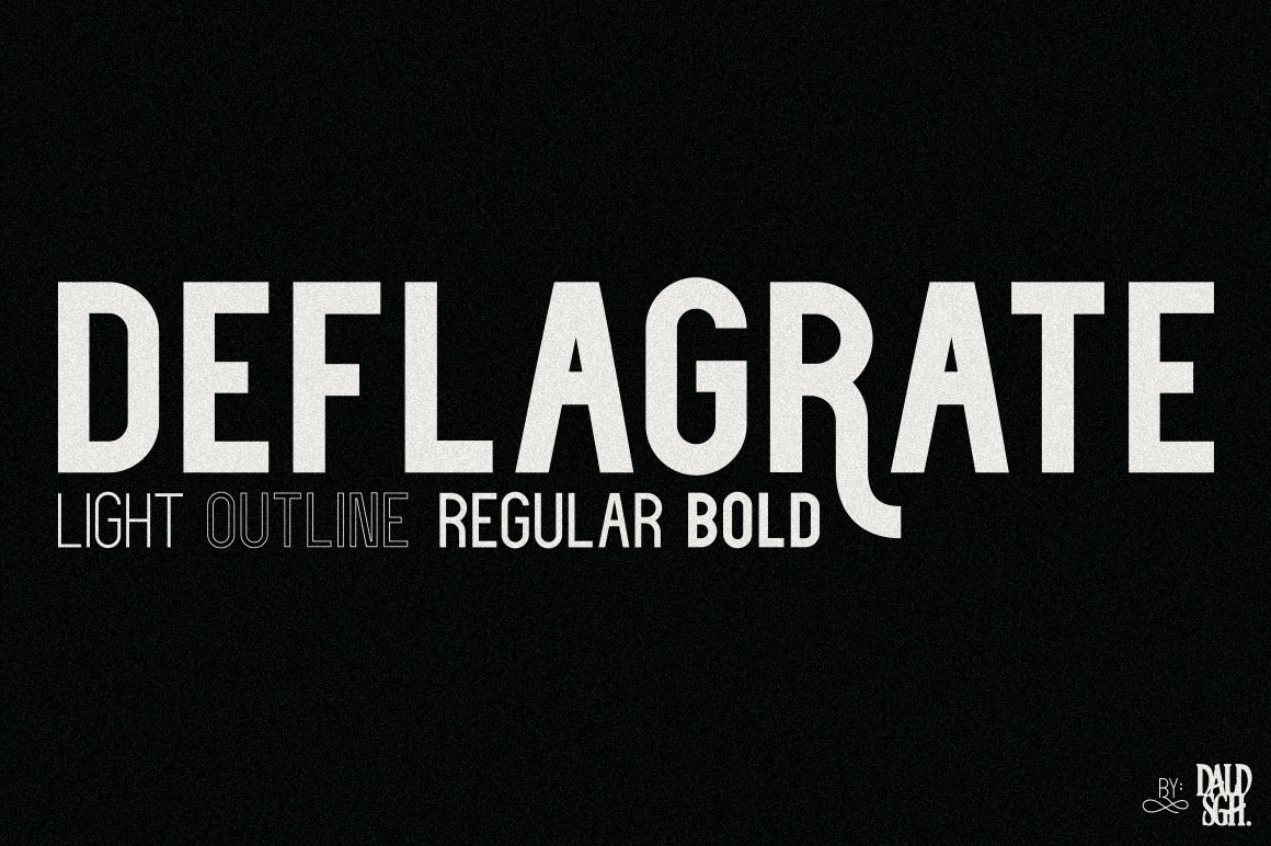 Deflagrate Fonts example image 1