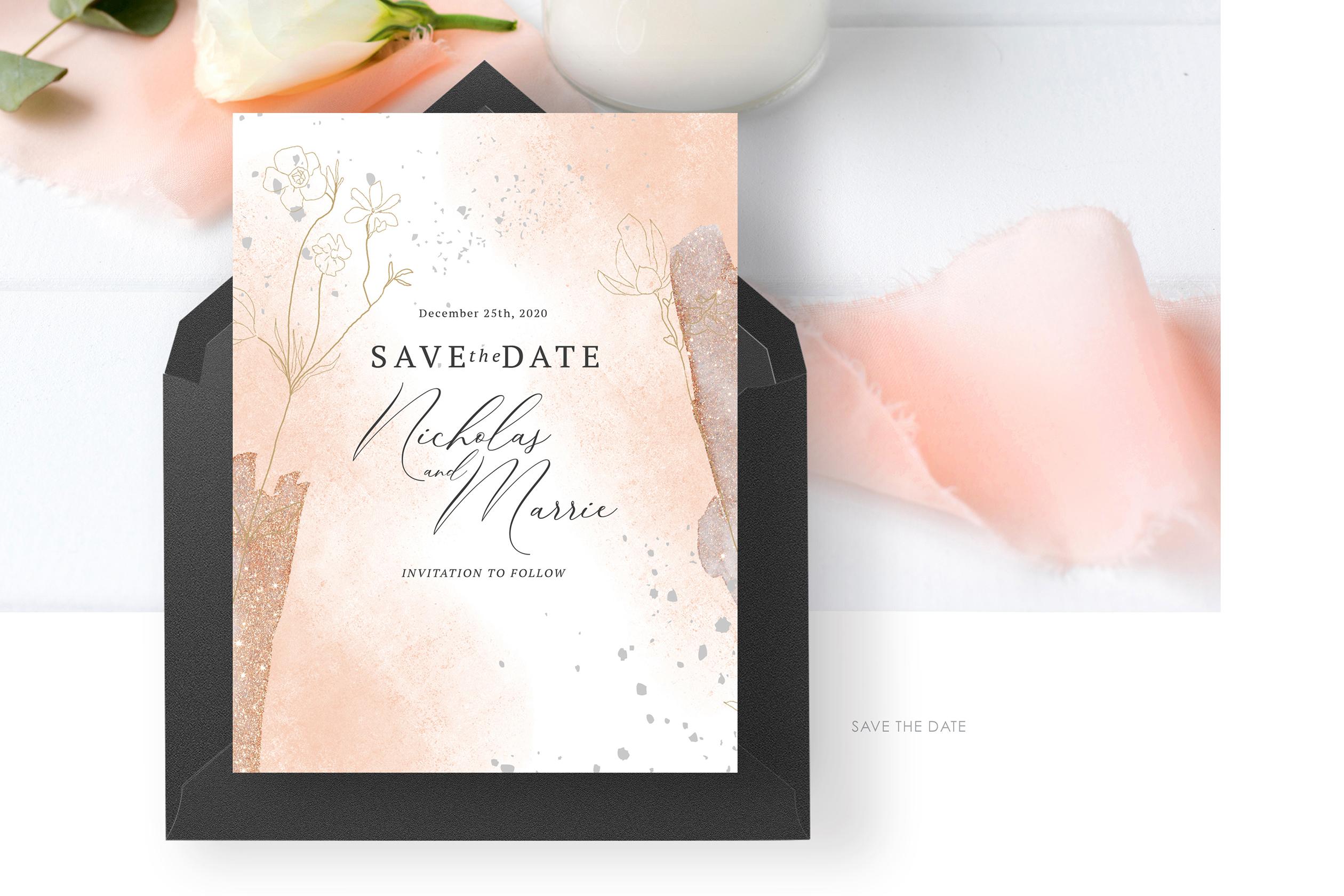 Blush Foliage Wedding Suite example image 2