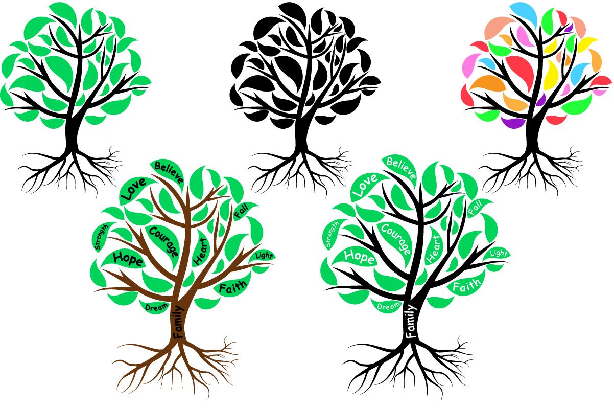 Family Tree love strength dream believe heart -751S example image 2