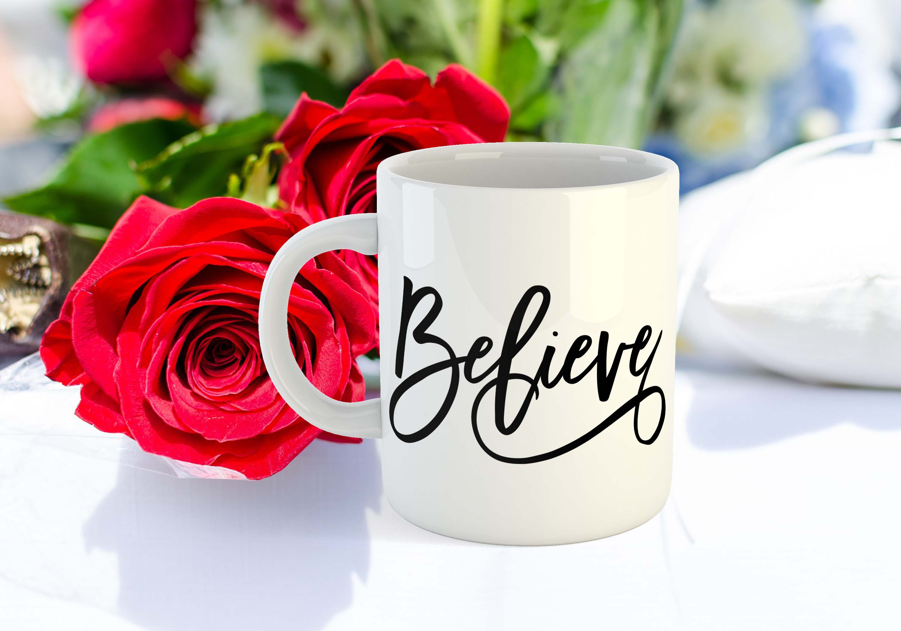 Believe SVG EPS PNG DXF example image 2