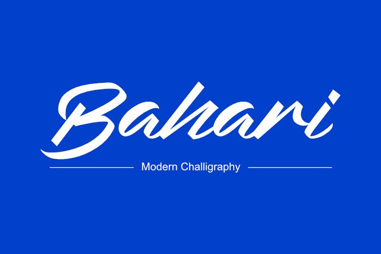 Bahari Typeface example image 1