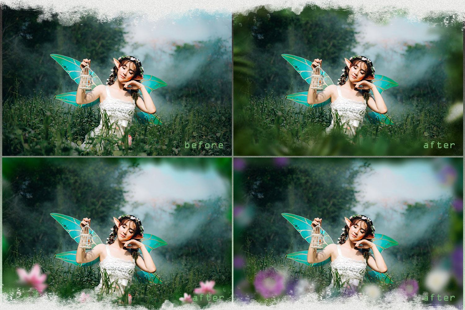 Summer overlays templates frames textures backdrop wedding example image 3