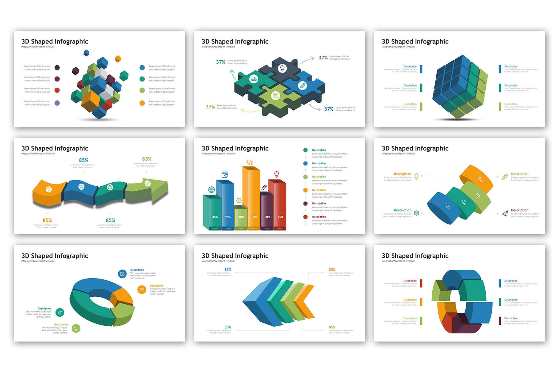 3D Infographic Presentation - Infographic Template example image 7