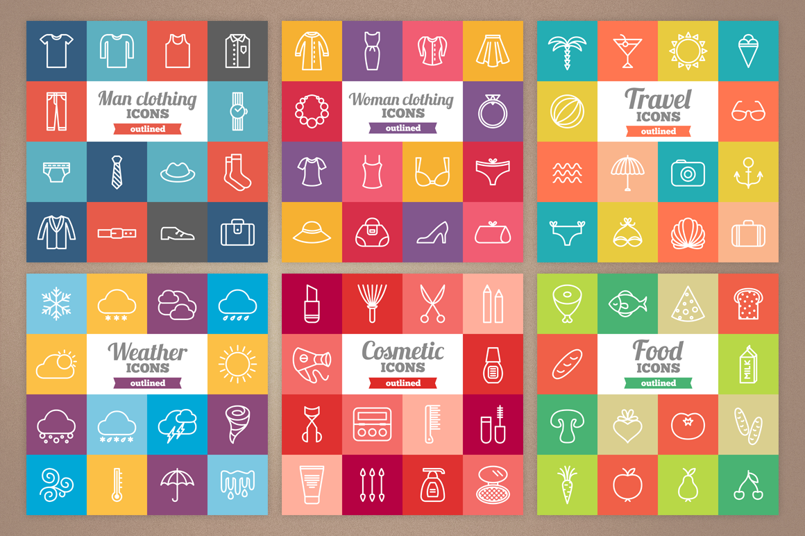 83 Off - Outlined Icons Big Bundle example image 3
