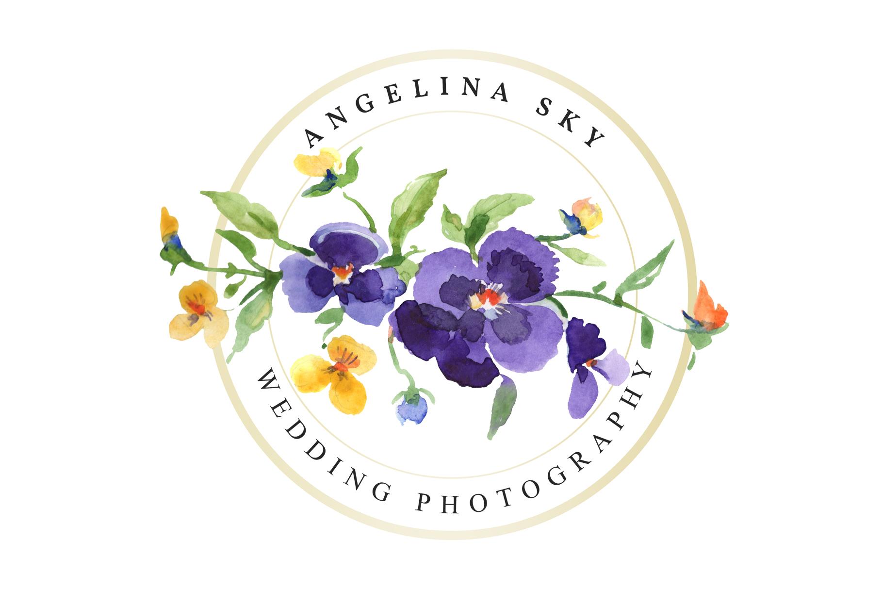 LOGO with violas Watercolor png example image 5