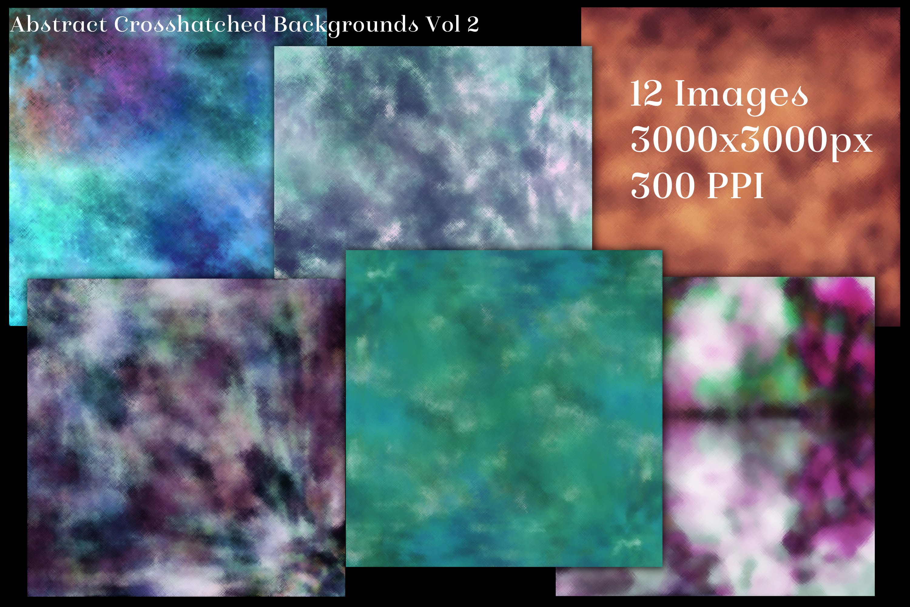 Abstract Crosshatched Backgrounds Vol 2 - 12 Image Textures example image 2