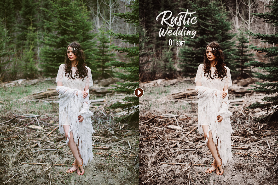 50 Rustic Wedding Presets for Lightroom & ACR example image 9