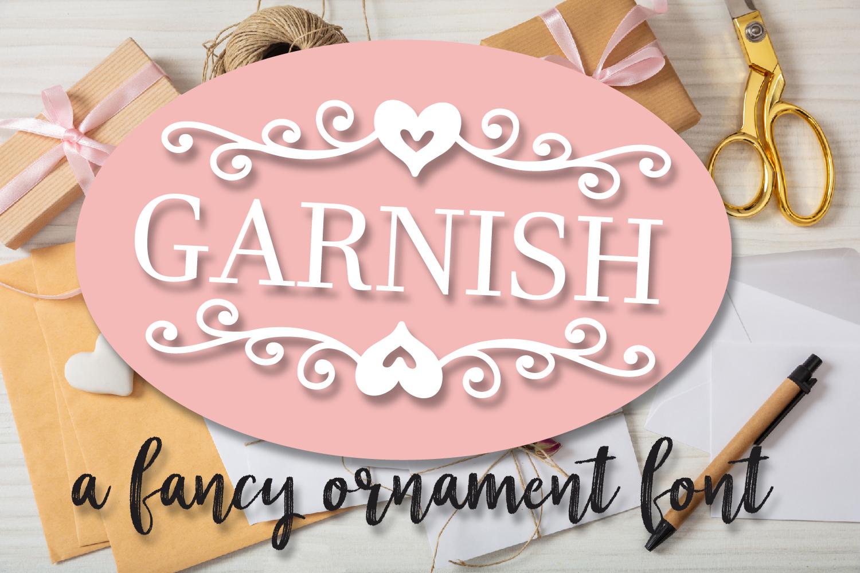 Garnish - A Fancy Flourish and Monogram Font example image 1