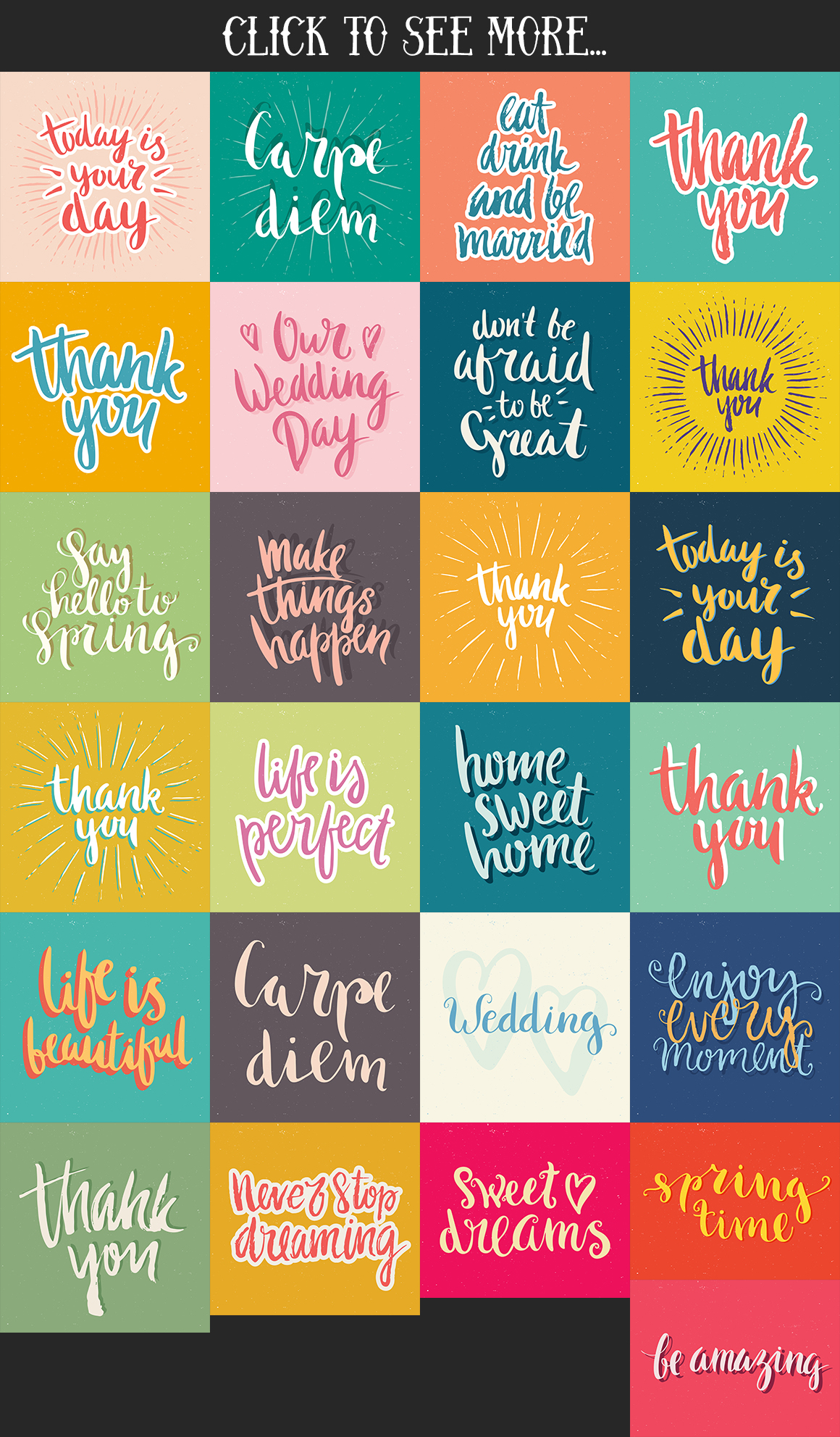 25 Hand Lettering Phrases & Posters example image 4