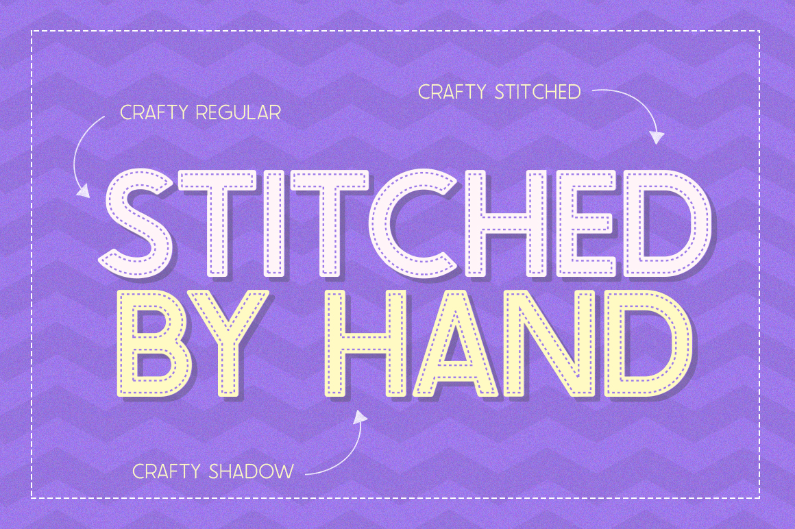 The Crafty Font Collection - 24 Fonts example image 3