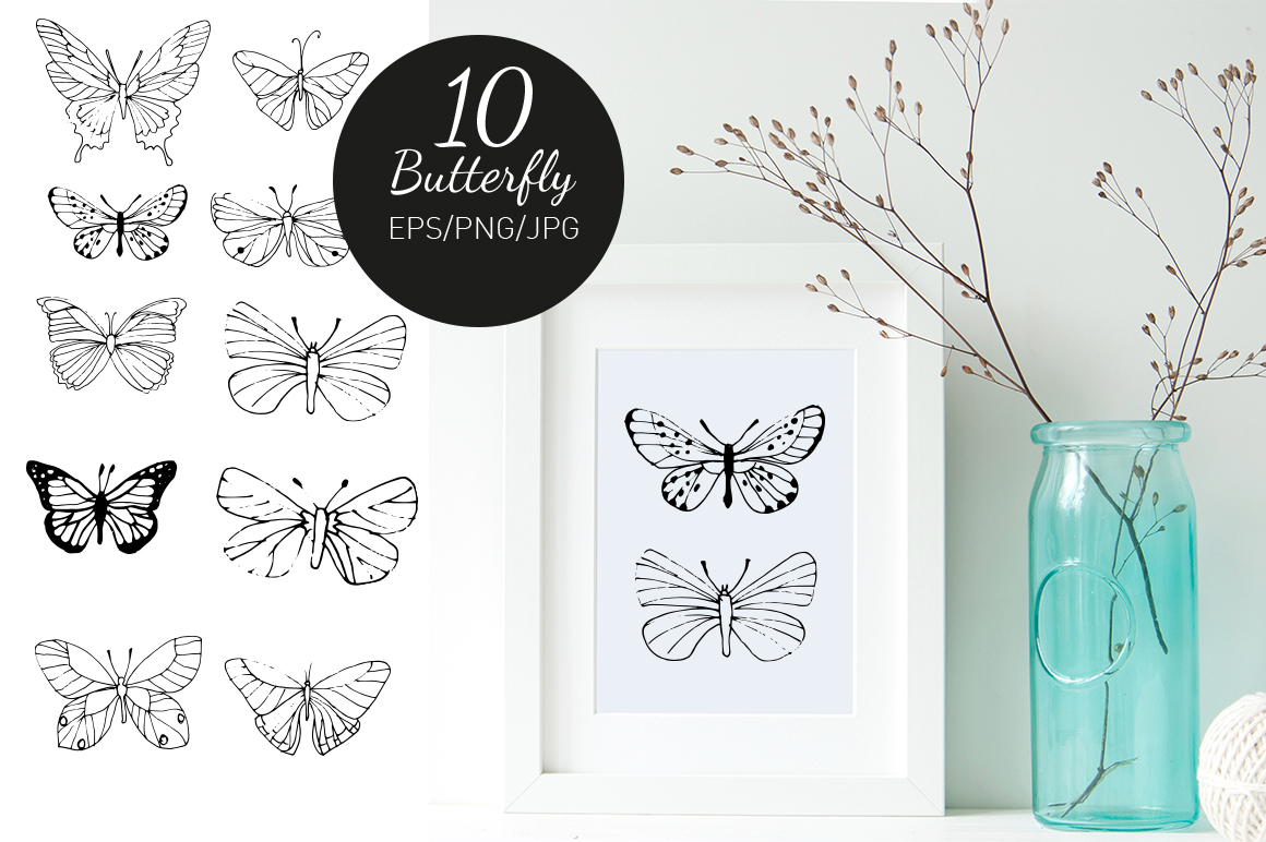 Watercolor butterfly example image 4