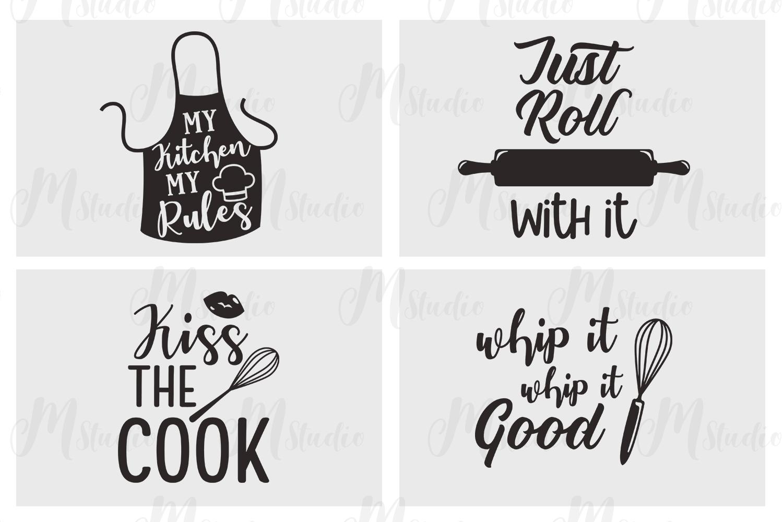 Kitchen Quotes svg bundle - 2 example image 3
