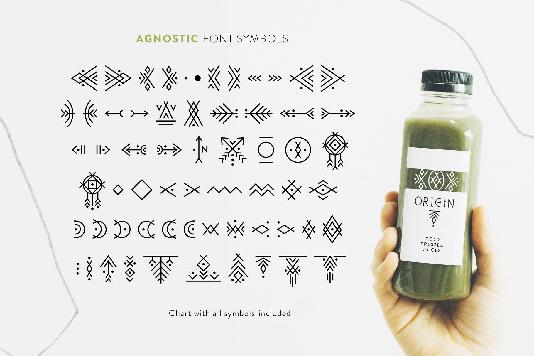 Agnostic - Thin Line Geometric Font example image 6