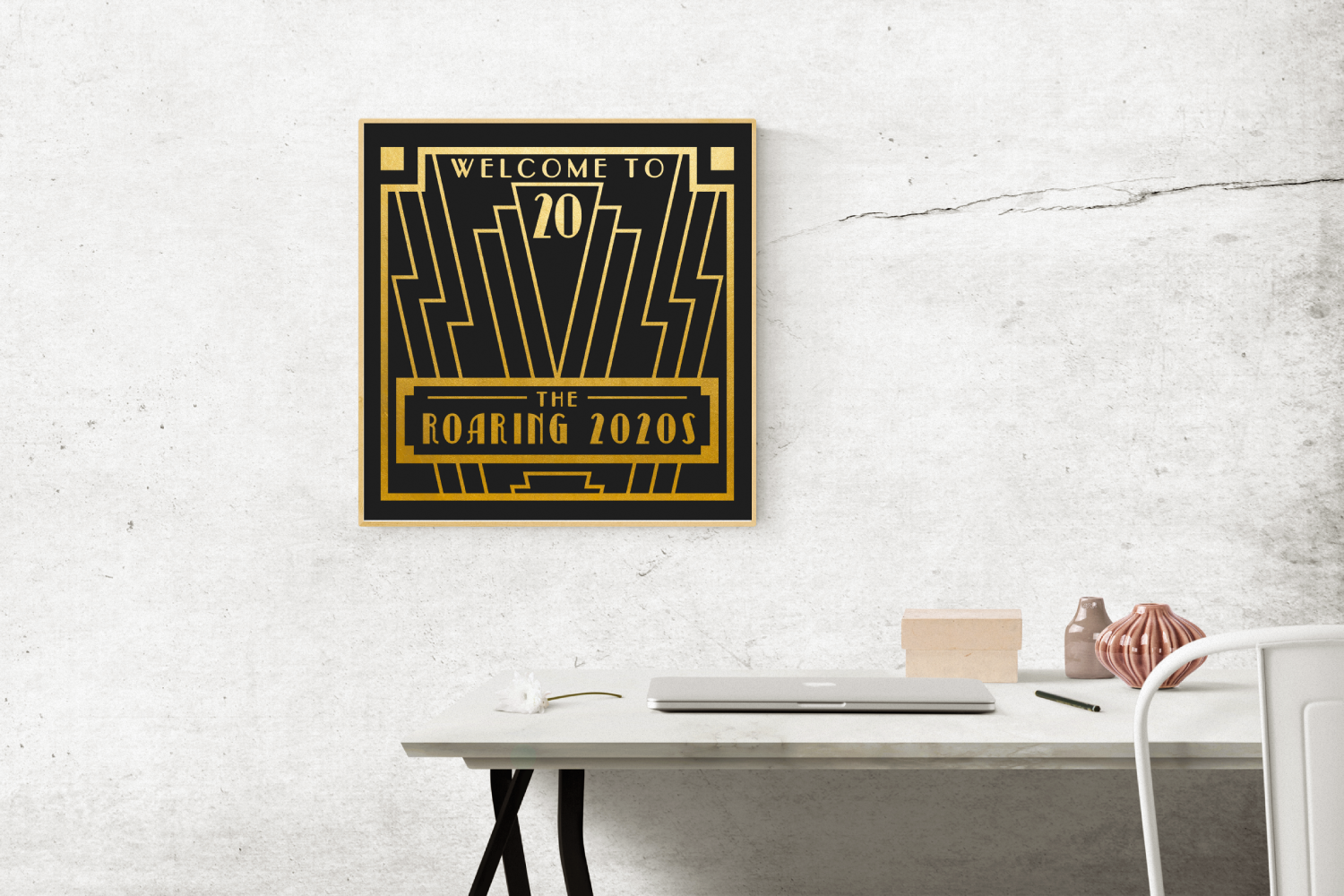 The Roaring 2020s Art Deco Frame SVG Design File example image 1