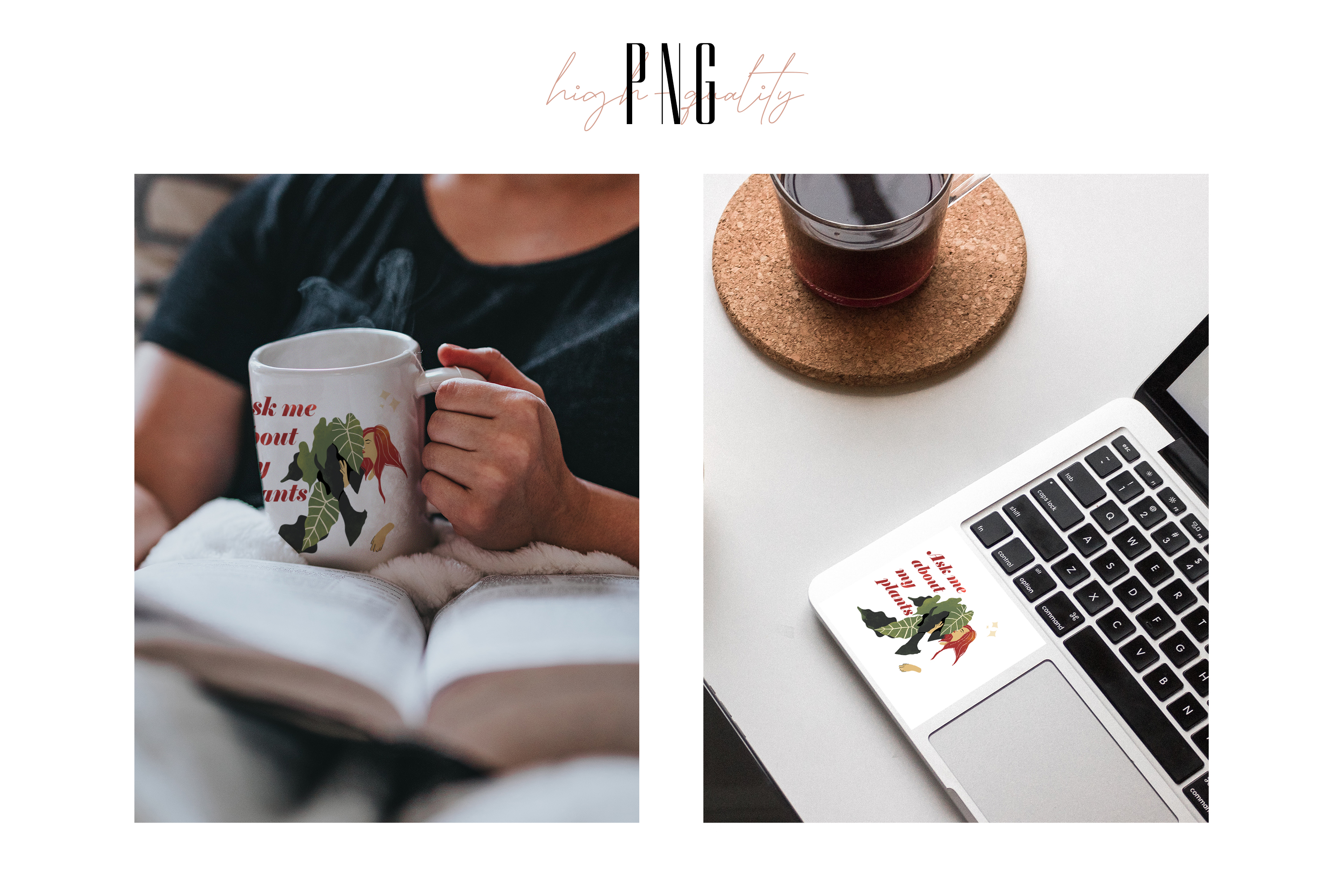 Sublimation PNG clipart witn Crazy Plant Lady for Printing example image 5