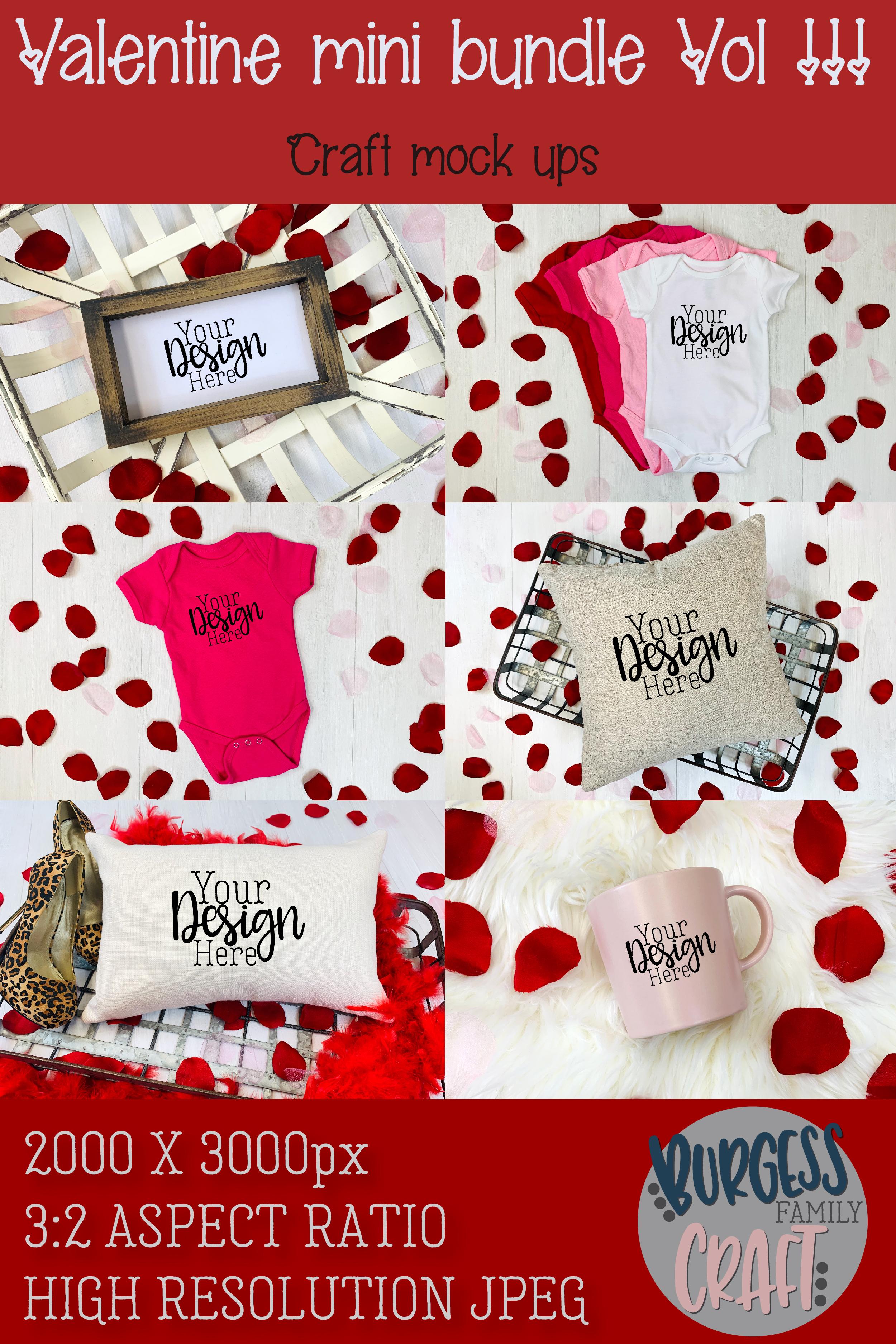 Valentine Mini Bundle Vol III | Craft mock ups example image 8