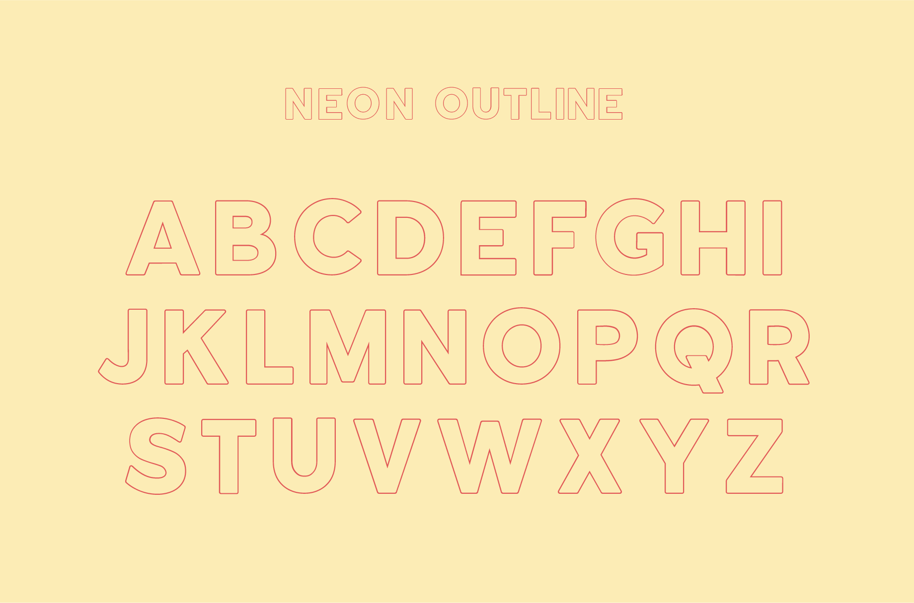Neon | An Outline Font Bundle example image 6