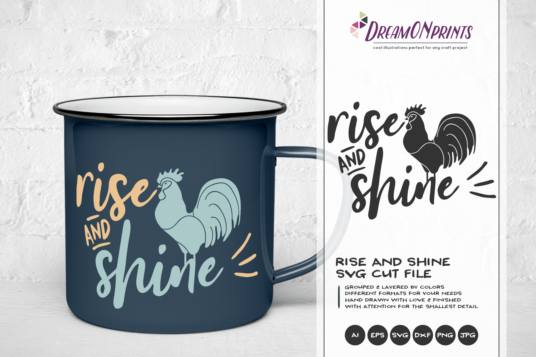 Rise and Shine SVG - Rooster Farm SVG example image 1