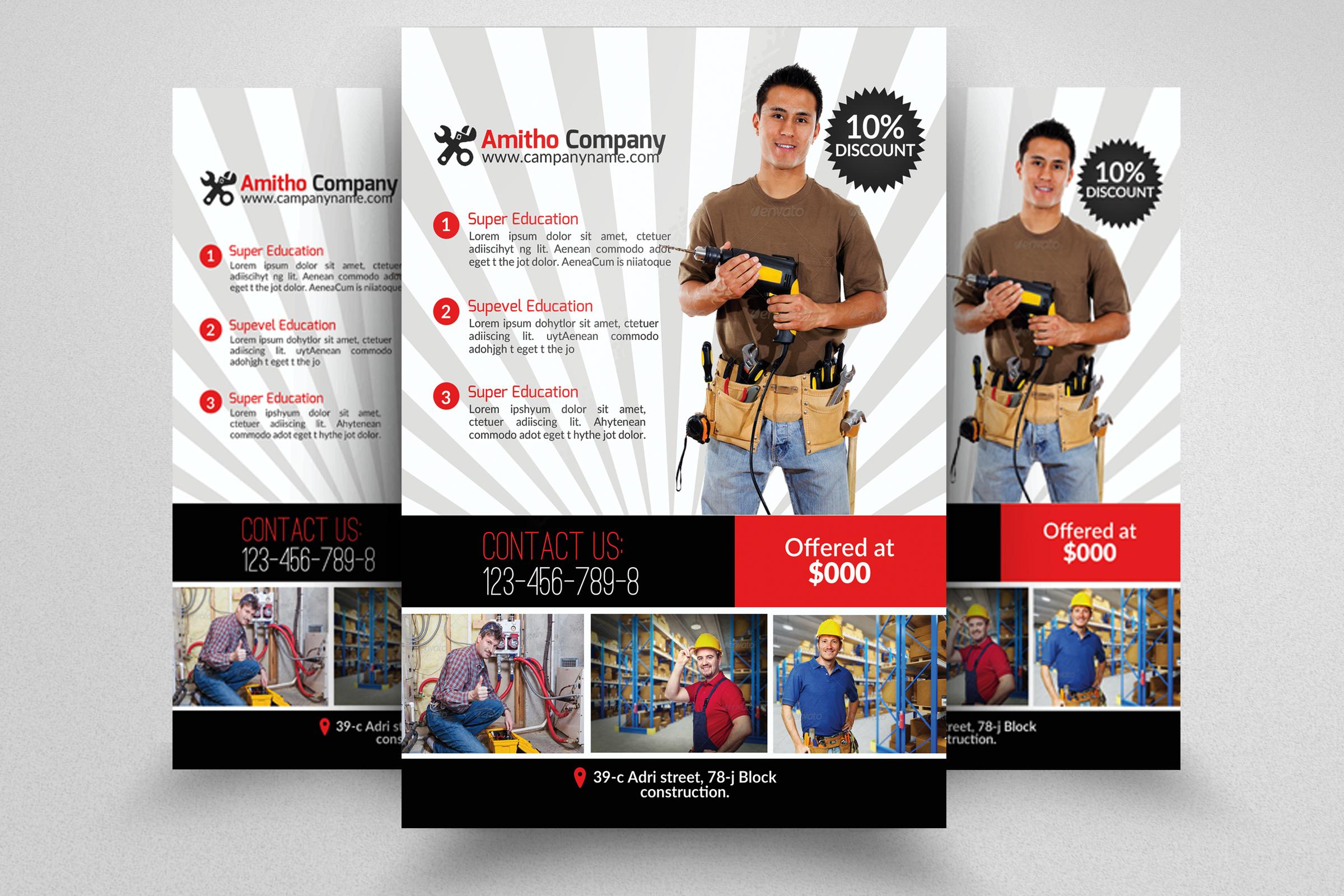 6 Handyman & Plumber Flyers Bundle example image 6
