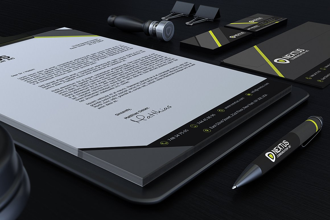 Grey Corporate Identity example image 5