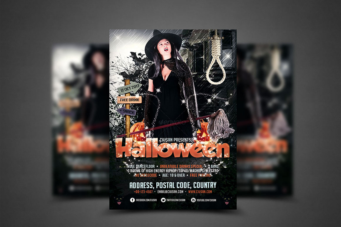 Halloween Flyer Template - Bundle example image 3