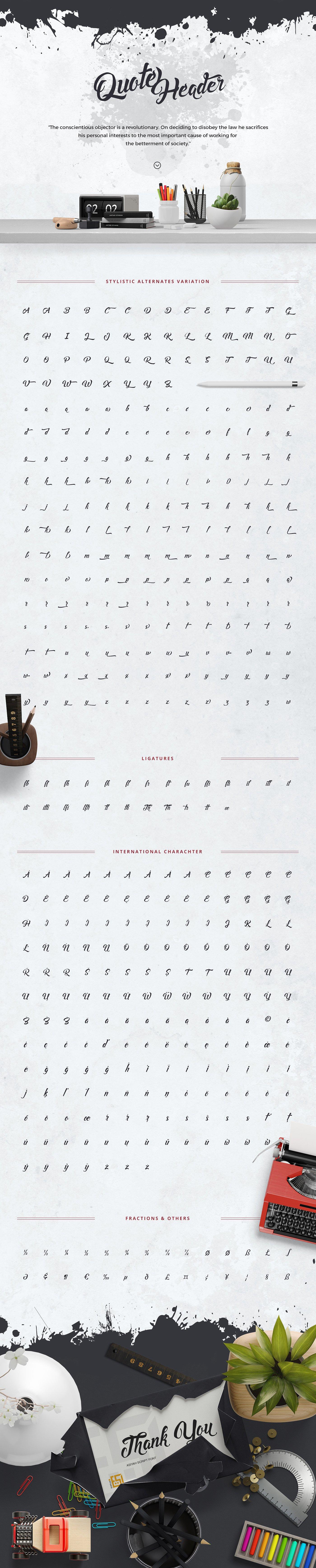Asiyah Script Font example image 5