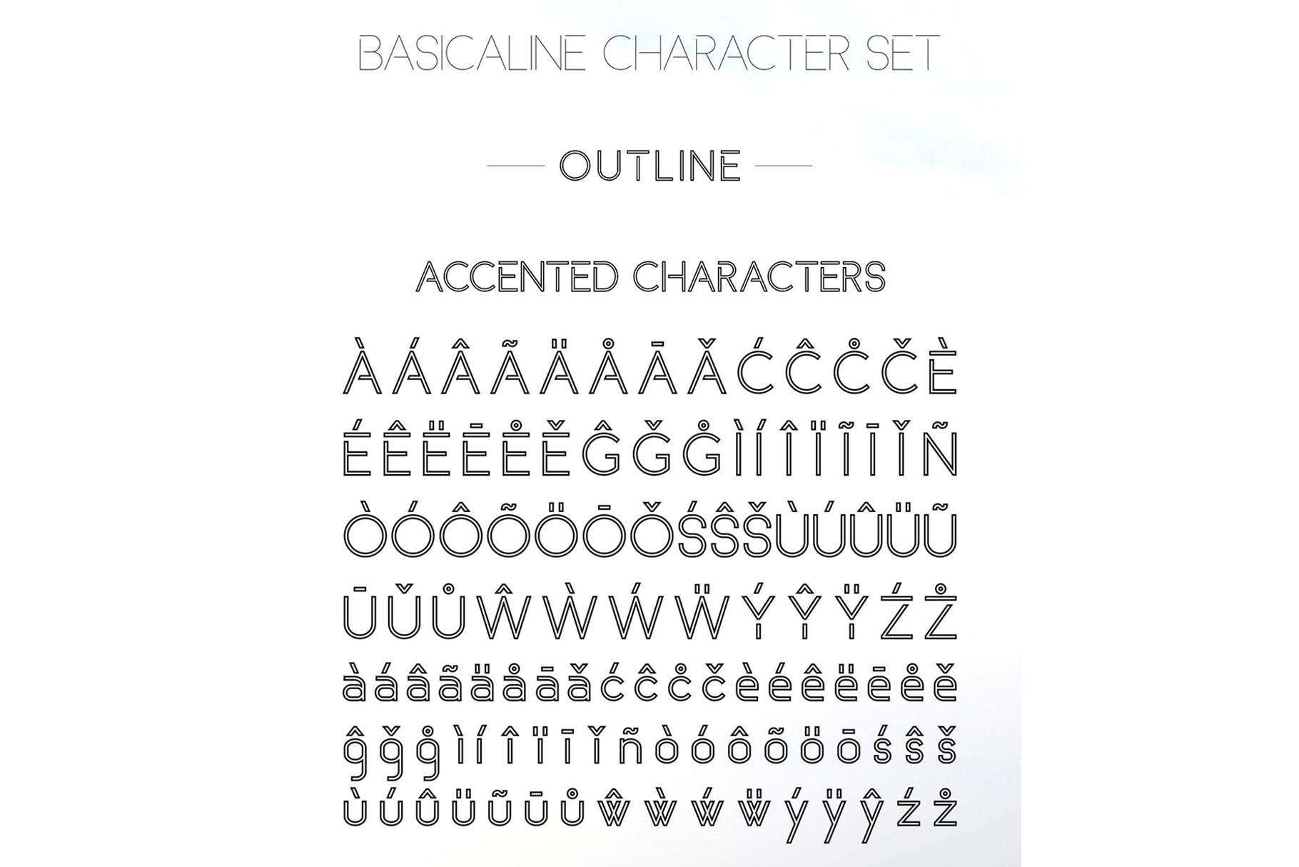 Basicaline Font Family - Sans Serif example image 18