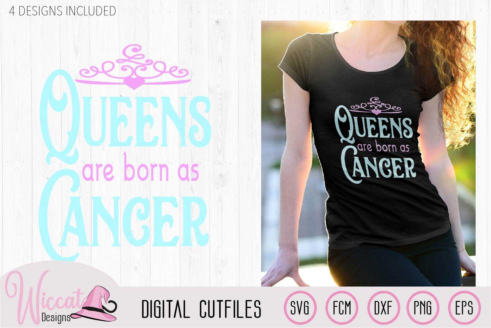 Cancer Zodiac quote svg, Queens are born as svg, word art example image 4