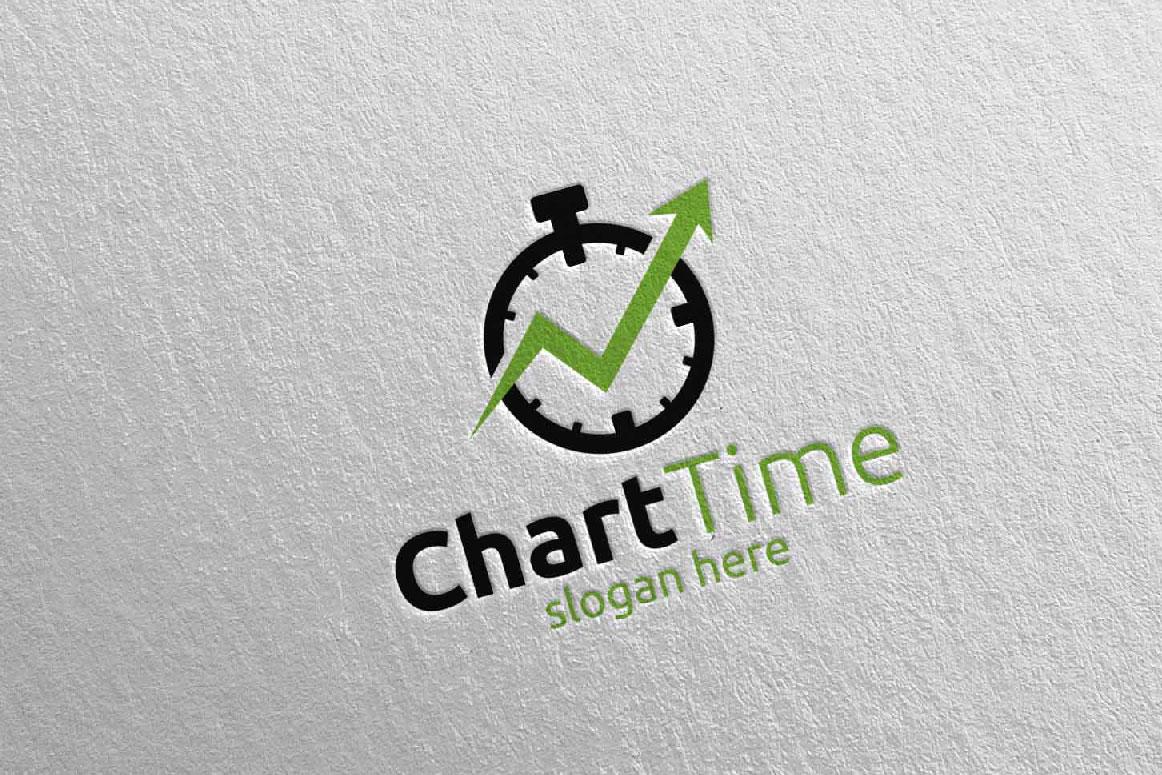 Chart Time Marketing Financial Advisor Logo Design 18 example image 2
