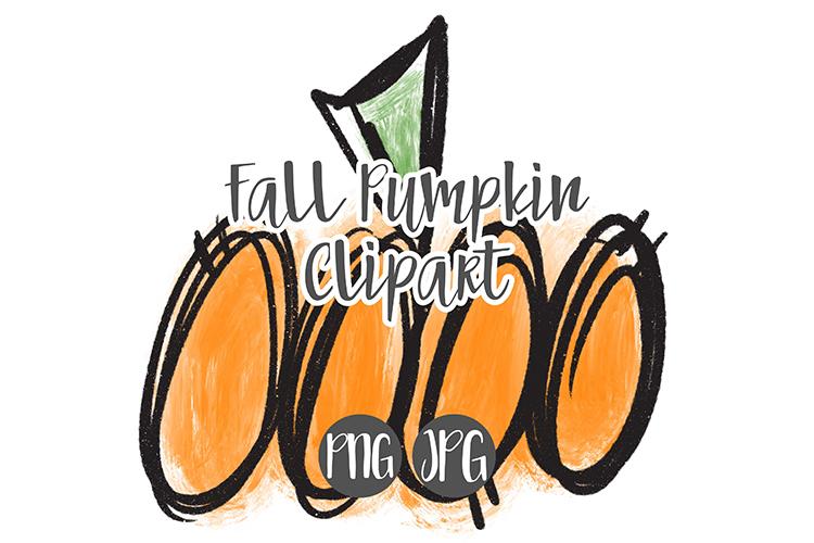 Hand Drawn Fall Pumpkin Clipart example image 1