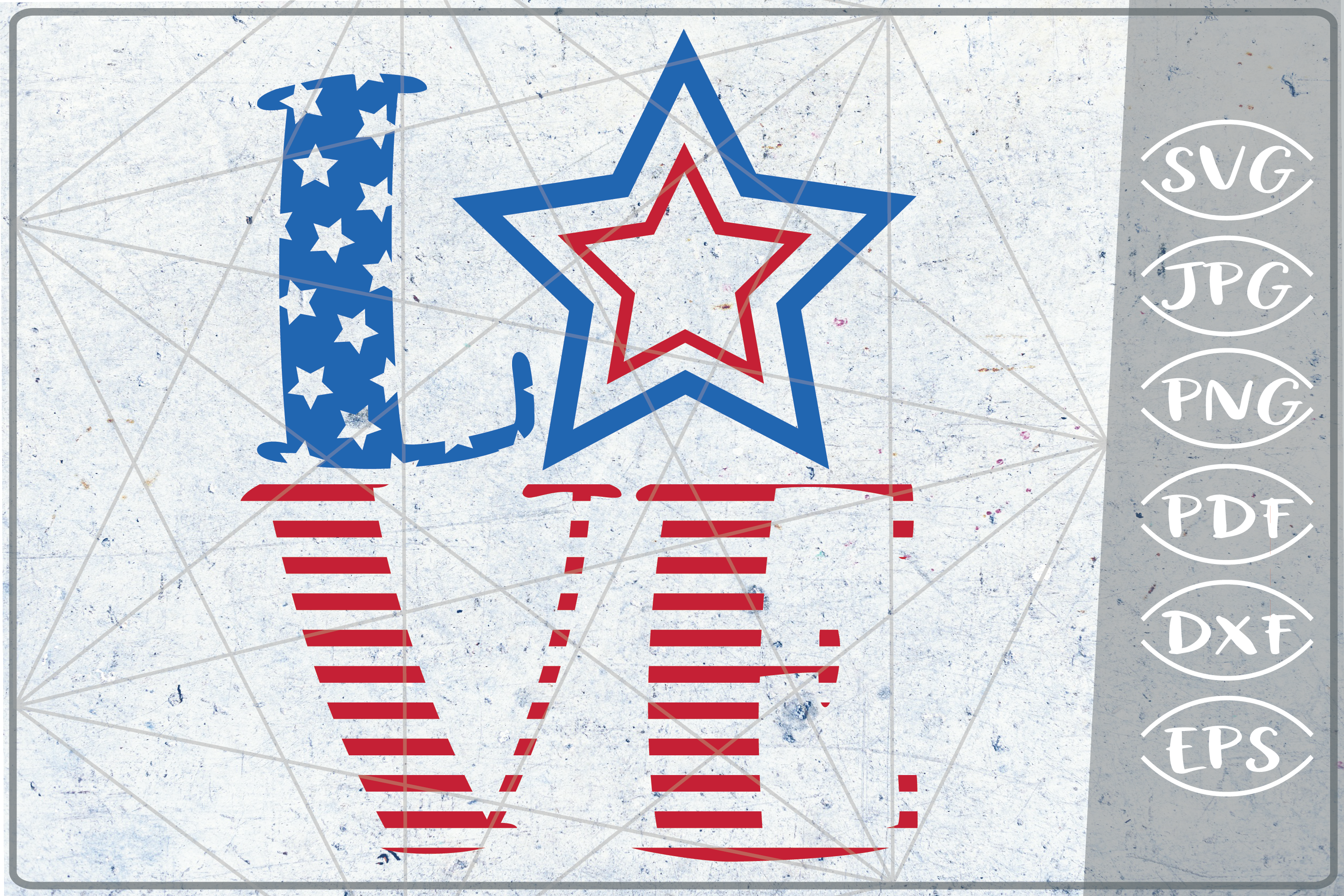 Love 4th of July Independence Day Crafters SVG Patriotic example image 1