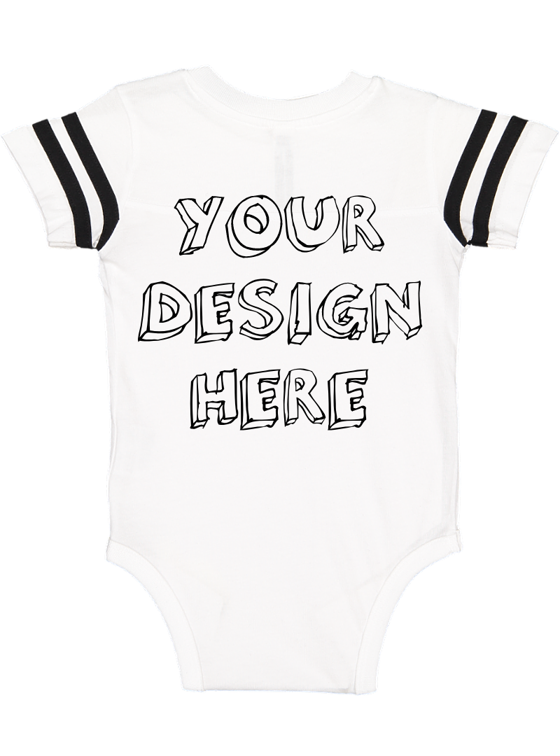 Infant Football Bodysuit Mockups - 12 |PNG|Front/Back - V2 example image 13