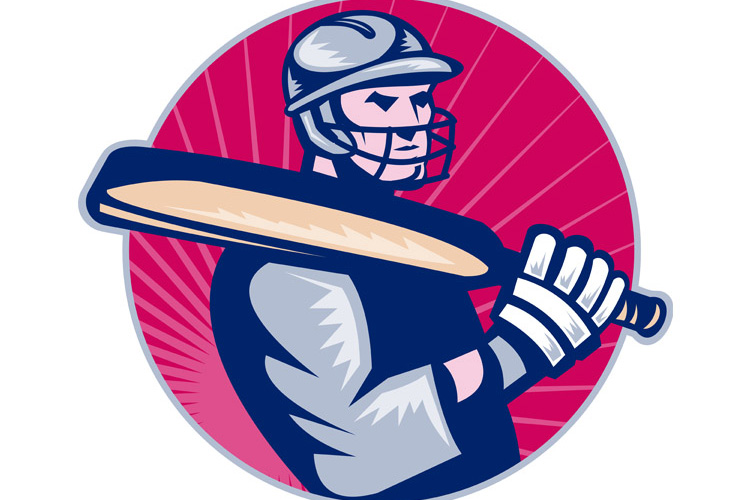 cricket player batsman holding bat example image 1