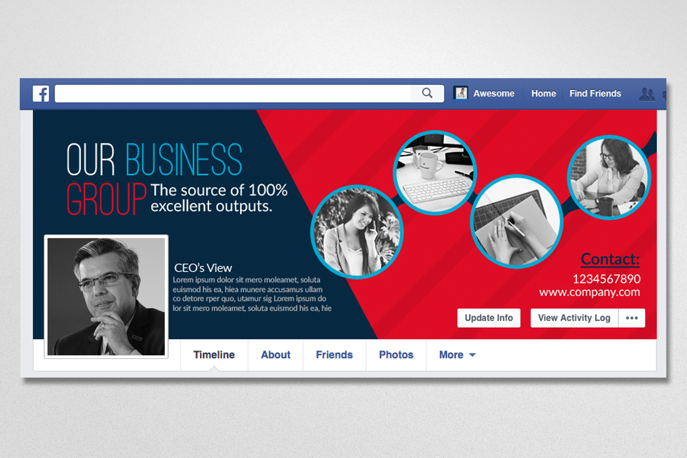 10 Business Facebook Timelines Bundle example image 2