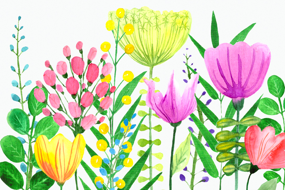 Flowers of the Valley Clip Art Set example image 1