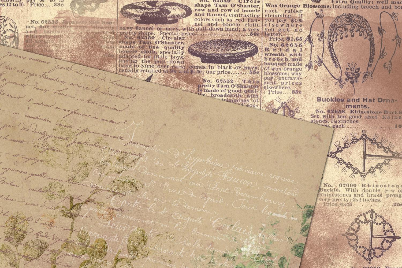 Distressed Ephemera Digital Paper example image 4