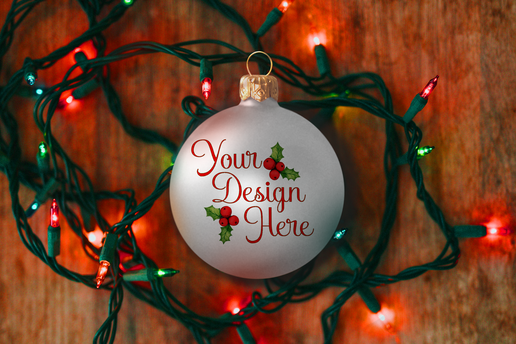 Christmas Ball Ornament Mockup, Bauble Mock-Up, PSD example image 2