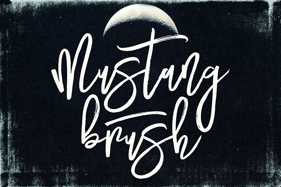 Mustang Brush Font example image 9