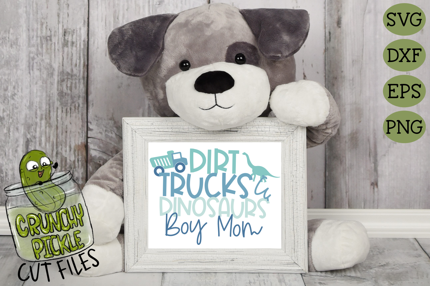 Mommy & Me - Boy SVG Cut File / Dirt, Trucks. Dinosaurs example image 4