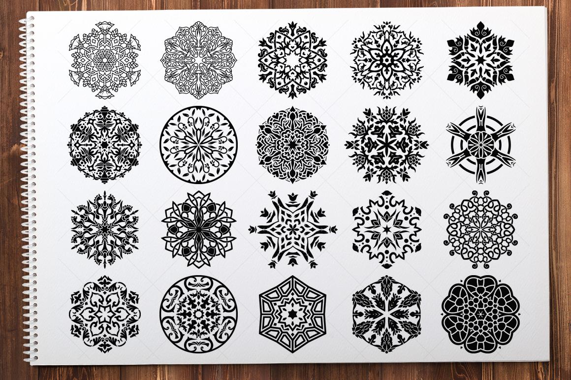 500 Vector Mandala Ornaments example image 13