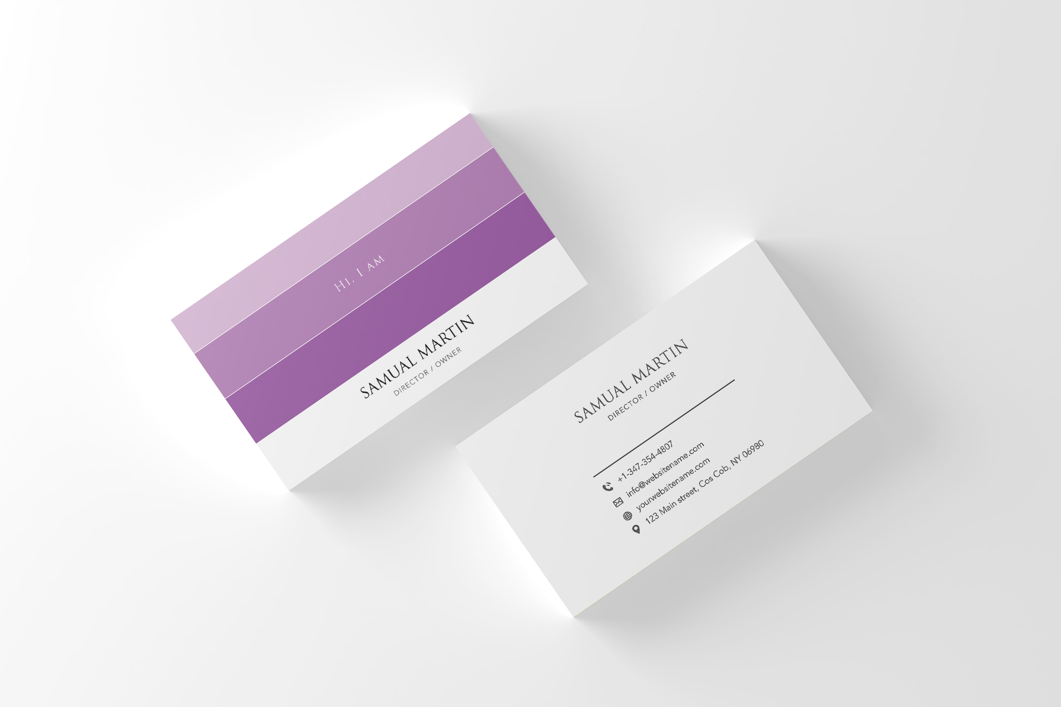 Beautiful Colours Modern Art Business Card example image 2