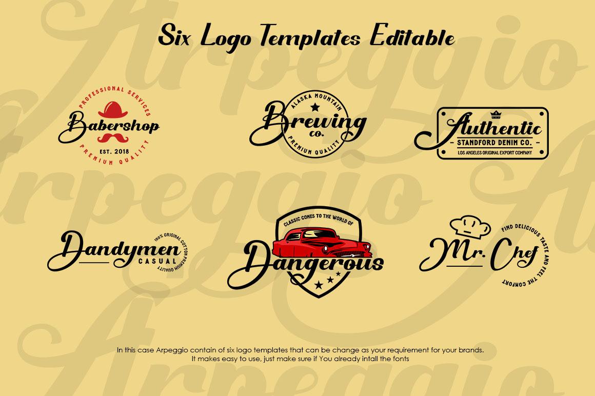 Arpeggio l Font Duo&6 Logo Templates example image 3