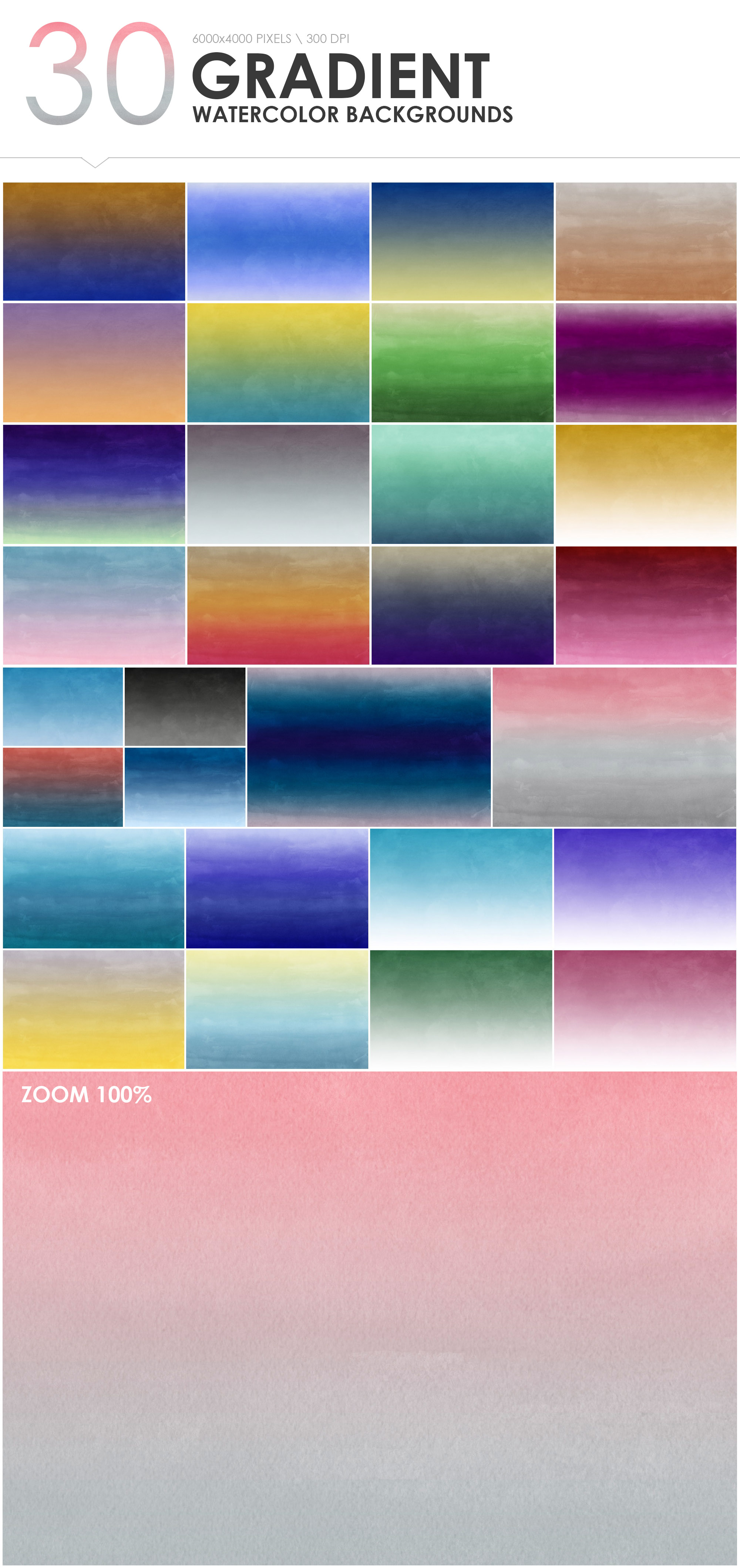 300 Diverse Watercolor Backgrounds example image 7