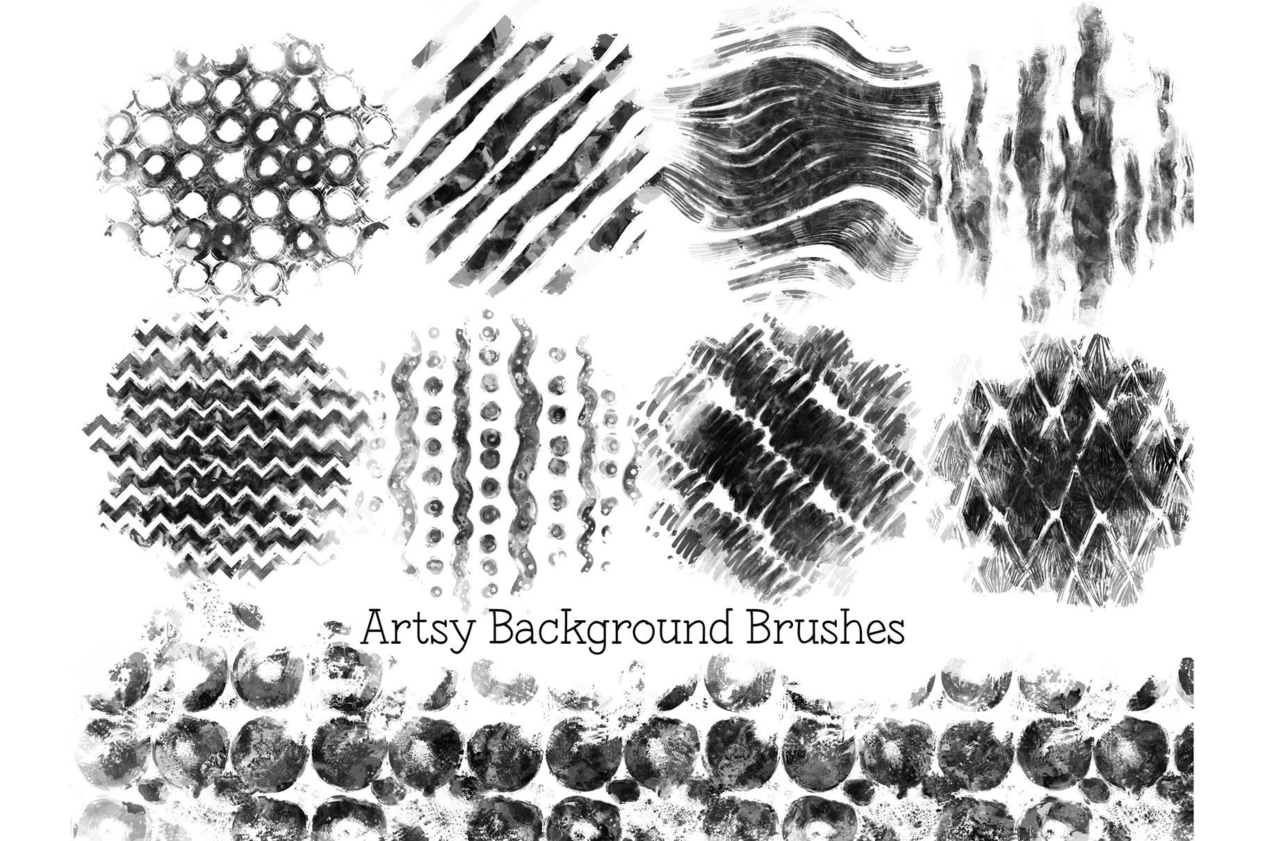 Procreate Background Brushes Set 2 example image 4