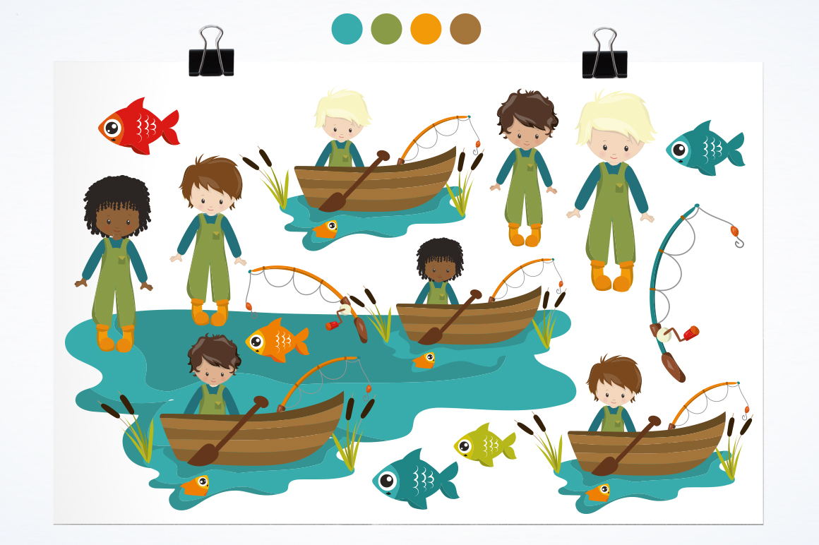 Fishermen graphic and illustrations example image 2