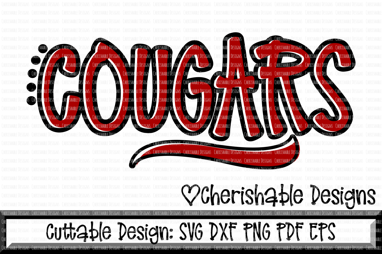 Cougars Sport SVG DXF PNG PDF EPS example image 1