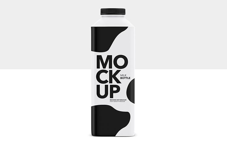 Milk Bottle - Matte - Mockup example image 1